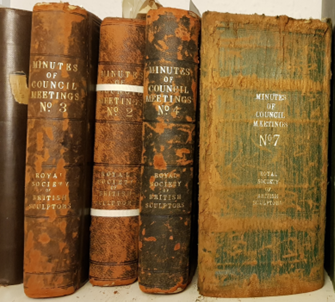 Council minute books, Royal Society of Sculptors' archive